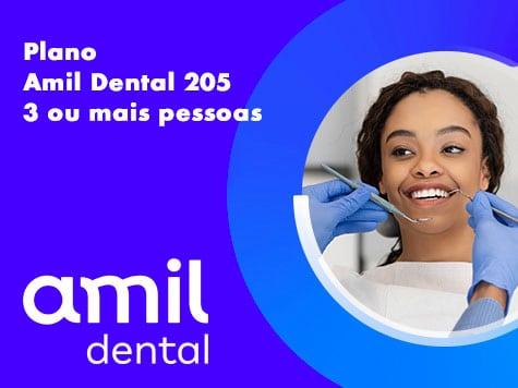 amil dental 205 3 ou mais